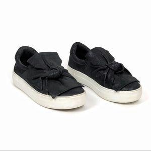 J SLIDES   Audra Black Metallic Slip On Sneaker